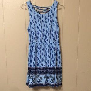 Forever 21 Women's M Blue Sleeveless Flare Dress